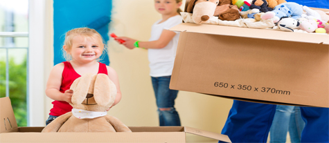 Kids Helping in Organizing Things to their mom