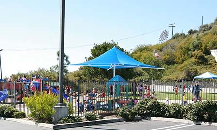 Playground of pacific preschool at Laguna Niguel